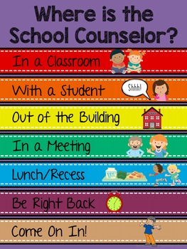 Counseling Office: Colorful Office Signs for Counselors