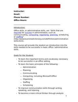 Office Skills Syllabus (DOC)