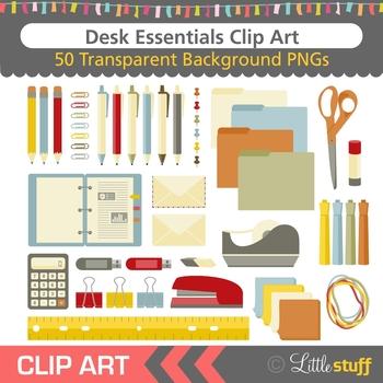 Office Supplies Clip Art (Set of 50)