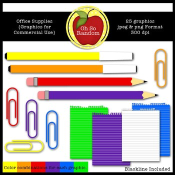 Office Supplies {Graphics for Commercial Use}