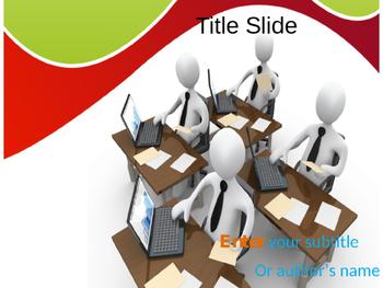 Office Work PowerPoint Template