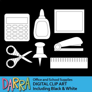 Office and school supplies clip art