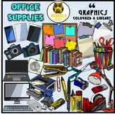 #AugTpTClipLove Office Supplies Clipart