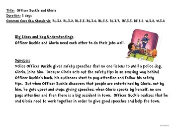 Officer Buckle & Gloria-A Close Reading w/Text Dependent Questions