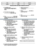 Officer Buckle Vocabulary and Comprehension Assessment