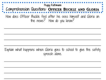 Officer Buckle and Gloria Activity Pack for Grades 2-3