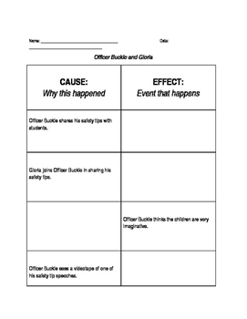 Officer Buckle and Gloria Cause and Effect Practice