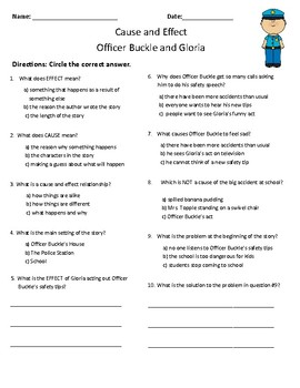 Officer Buckle and Gloria Comprehension & Vocabulary Test (Journeys)