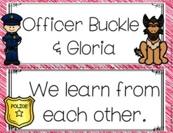 Officer Buckle and Gloria Focus Wall Anchor Charts and Word Wall Cards