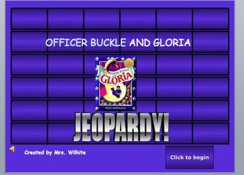 jeopardy template with sound effects - officer buckle and gloria jeopardy game by swinging