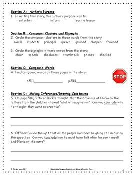 Officer Buckle and Gloria ~ Language Arts Workbook ~ 2nd Grade ~ Journeys