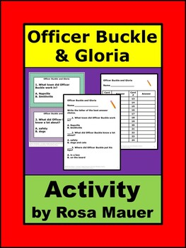 Officer Buckle and Gloria Activity