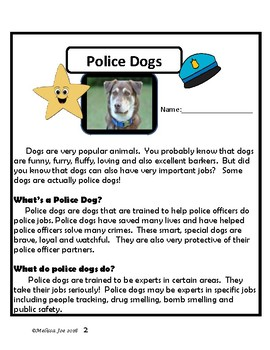 Officer Buckle and Gloria /Non Fiction Selection on Police Dogs-over 60 pages