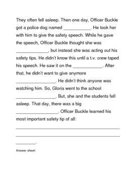 Officer Buckle and Gloria Packet