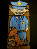 Officer Buckle and Gloria Paper Bag Puppet