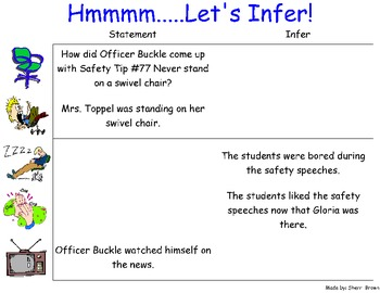 Officer Buckle and Gloria Reading Activities