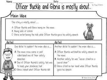 Reading Skills and Strategies inspired by Officer Buckle and Gloria