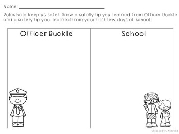 Officer Buckle and Gloria Rules Reinforcer and Extension Activities