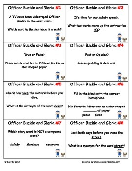 Officer Buckle and Gloria ~ Scoot Game ~ Language Arts ~ Task Cards