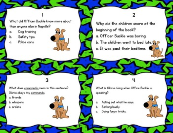 Officer Buckle and Gloria Task Cards! (Reading Comprehension)