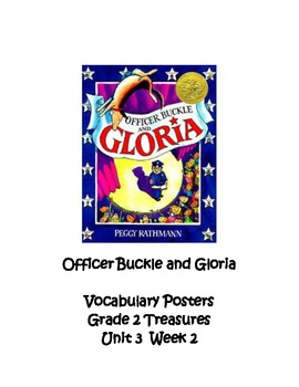 Officer Buckle and Gloria Vocabulary Posters, Grade 2  Treasures
