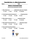 Officer Buckle and Gloria ~ Weekly Theme Skills Test