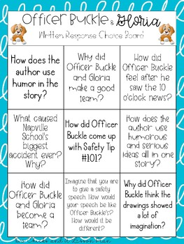 Officer Buckle and Gloria Written Response Activity
