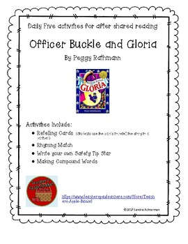 Officer Buckle and Gloria by Peggy Rathman  Shared Reading Daily Five