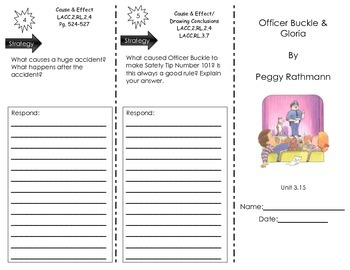 Officer Buckle and Gloria by Peggy Rathman- Journeys Common Core