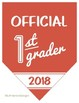 Official 1st Grader Banner Photo Prop, First Grade, Back to School