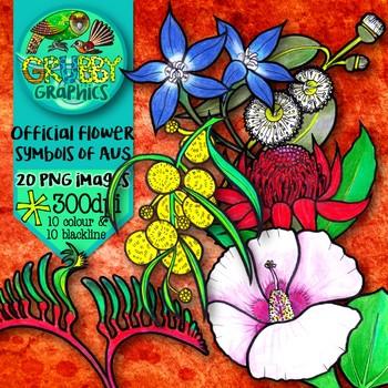 Official Flower Symbols of Australia {Clip Art}