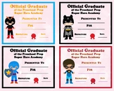 Official Graduate of the Preschool Prep Super Hero Academy Clip Art School 109p
