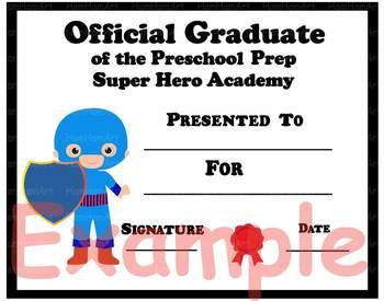 Official Graduate of the Preschool Prep Super Hero Academy Clip Art School 109p