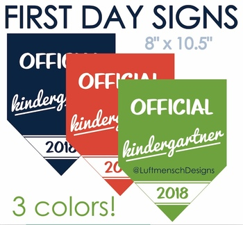 Official Kindergartner Banner Photo Prop, First Day Printable