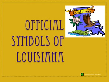Official Louisiana State Symbols