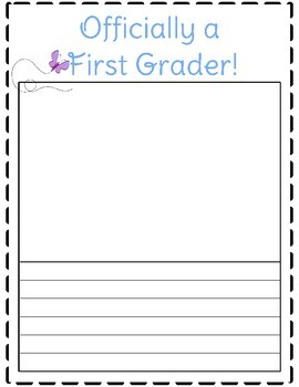 Free Downloads - Officially a First Grader!