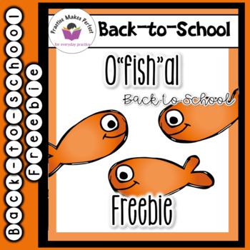 """O""""fish""""al Back-to-School Freebie"""