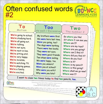 Often confused words 2 (12 distance learning worksheets for Literacy)