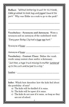 Ogres Don't Hunt Easter Eggs (Bailey School Kids) Novel Study / Comprehension