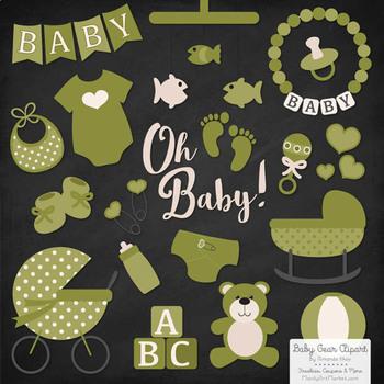 Oh Baby Clipart & Vectors Set in Avocado