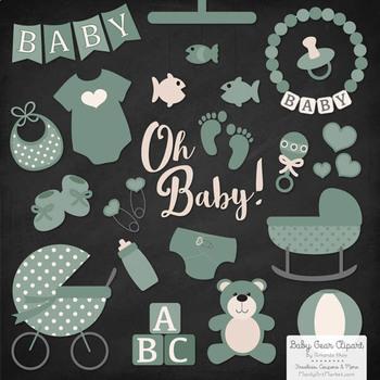 Oh Baby Clipart & Vectors Set in Hemlock