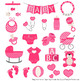 Oh Baby Clipart & Vectors Set in Hot Pink