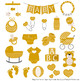 Oh Baby Clipart & Vectors Set in Mustard