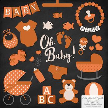 Oh Baby Clipart & Vectors Set in Pumpkin