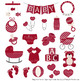 Oh Baby Clipart & Vectors Set in Ruby
