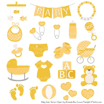 Oh Baby Clipart & Vectors Set in Sunshine