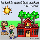 Back to School Math Centers and Activities