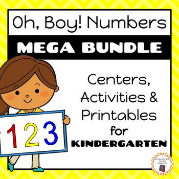 Oh, Boy! Numbers | Kindergarten Number Mega Bundle