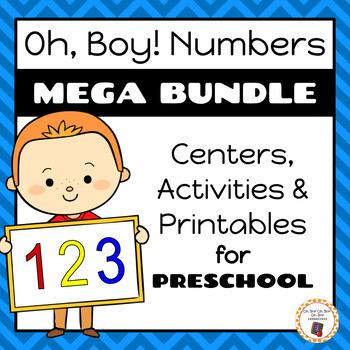 Oh, Boy! Numbers   Preschool Mega Number Bundle
