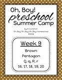 Oh, Boy! Preschool Summer Camp Week 9